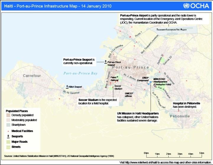 Carte De Carrefour Haiti.Localisation Des Zones Touchees Par Le Seisme A Port Au
