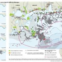 Marée noire Golfe du Mexique : cartographie et images satellites récentes