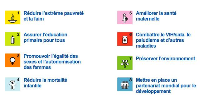 Les Objectifs du Millénaire pour le Développement (OMD) 2000-2015 - Source PNUD