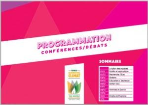 Programmation conferences debats