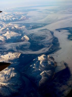 Vue aérienne du Groenland, côte orientale - Photo JMDigne - 24 octobre 2015