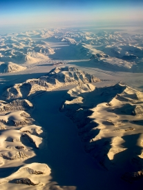 Vue aérienne du Groenland - glaciers - Photo JMDigne - 24 octobre 2015