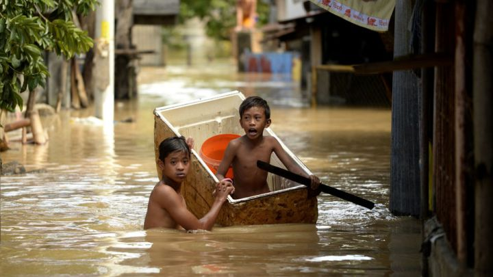 Inondations au Nord de Manille -Typhon Melor - décembre 2015 - Photo AFP