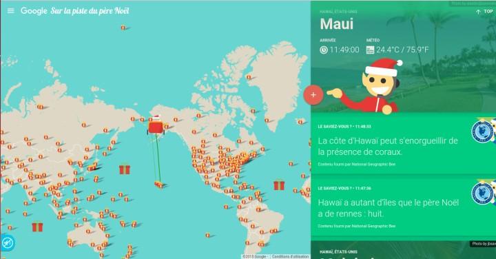 Google Santa Tracker - Infographie - Animation