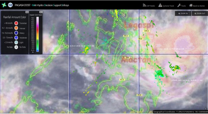 Image satellite - radar pluviométrie Source PAGASA