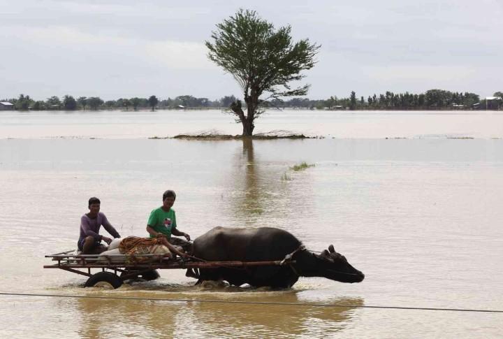 Inondations île de Luzon source : inquirer.net