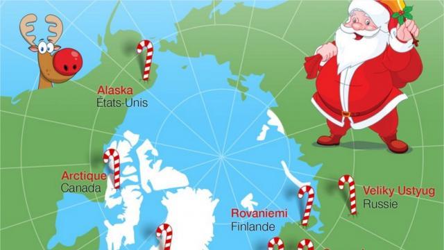 Où habite réellement le Père Noël ? - jeu découverte sur Ouest-France