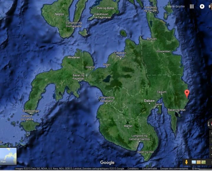 Carte de localisation (Sud des Philippines) Google Maps