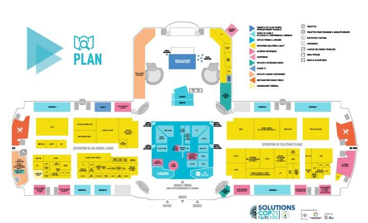 Plan de l'exposition solutions climat COP21