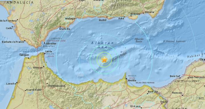 Séisme 6.1 méditerranée - USGS
