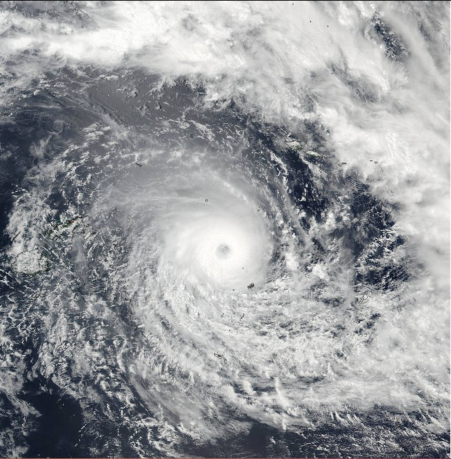 On Feb. 19 at 01:15 UTC, the VIIRS instrument aboard NASA-NOAA's Suomi NPP satellite captured this visible image of Tropical Cyclone Winston in the South Pacific Ocean. Credits: NASA Goddard Rapid Response/NOAA