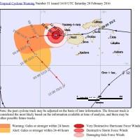 Cyclone Winston Catégorie 5 sur les îles Fidji (Pacifique)