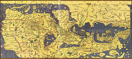 Carte du livre de Roger - 1154 • Crédits : Wikipédia