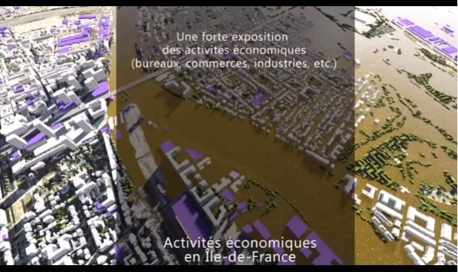 A quoi ressemblerait l'Ile-de-France en cas de crue ? - Le Monde - Vidéo