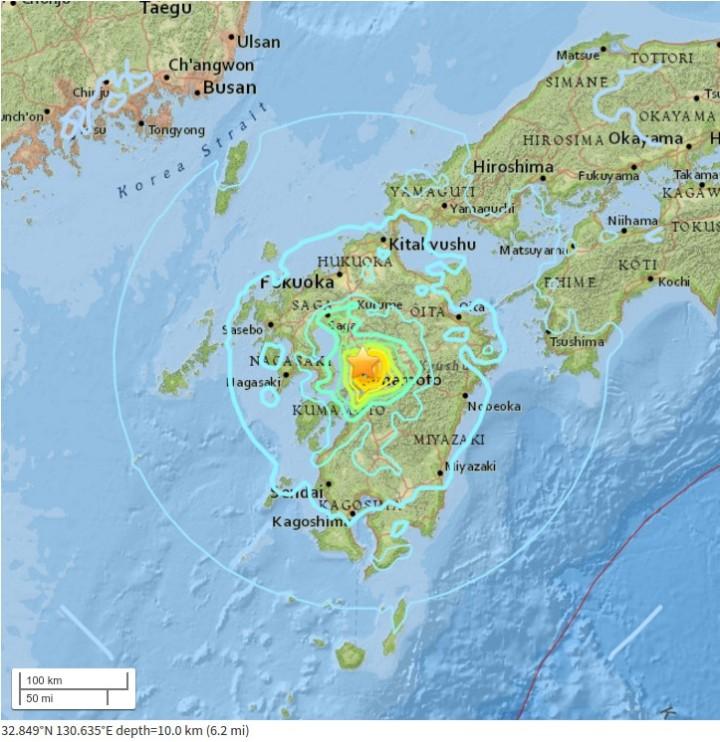 Séismes du 14 avril 2016 au Japon