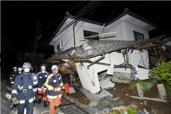 Séisme Japon 14 avril 2016 - Photo Kyodo/Reuters