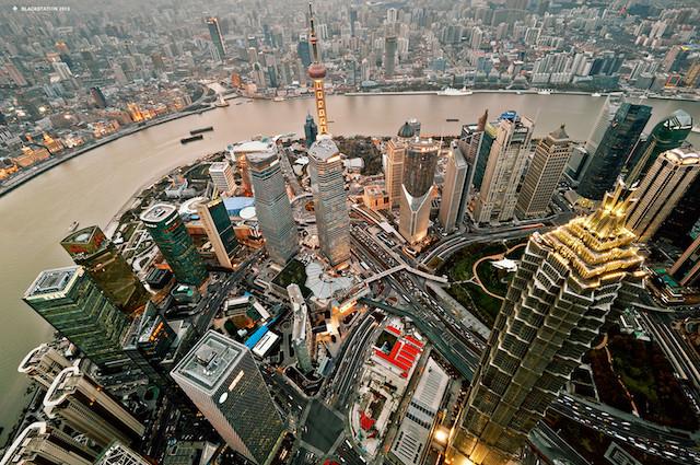 Vue aérienne de Shangai - http://jtgeek.com/wp-content/uploads/tour-shanghai-05.jpg