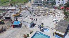 Hotel Royal de Pedernales après le séisme du 16 avril 2016 - Photo Vicente Costales - el Comercio