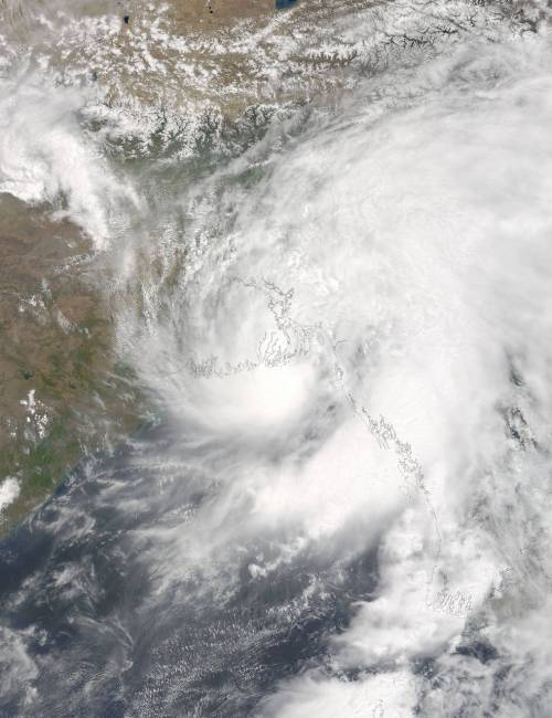 Cyclone Roanu - Bangladesh - n May 21 at 4:50 UTC (12:50 a.m. EDT) the MODIS instrument aboard NASA's Terra satellite captured Tropical Cyclone Roanu approaching Bangladesh. Credits: NASA Goddard MODIS Rapid Response