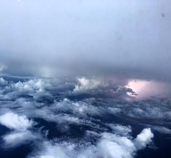Tropical Storm Earl photos from a Hurricane Hunter mission the evening of Aug. 2, 2016. Photos by 1st Lt. Leesa Froelich, 53rd Weather Reconnaissance Squadron.