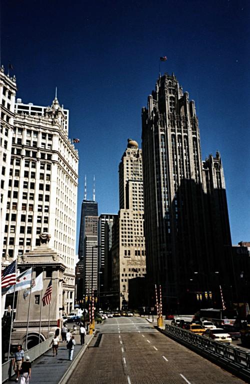 Chicago - Avenue Michigan - 08/1998 - Photo Marie-Sophie Bock Digne (Planète Vivante)
