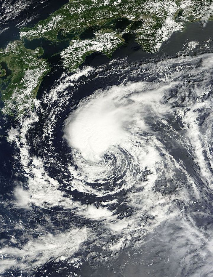 Image satellite de la tempête tropicale Lionrock - 21/08/2016 - Source : Rapid response , LANCE
