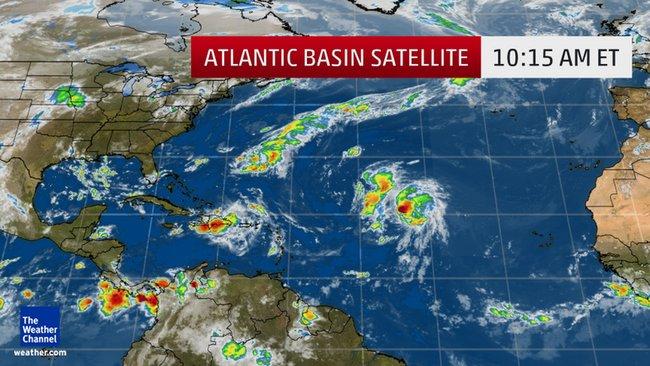 Image satellite Bassin Atlantique 25/08/2016 - Copie écran à partir d'une vidéo sur weather.com