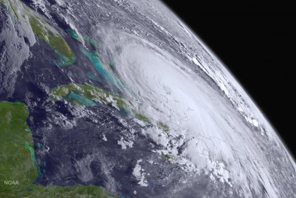 Hurricane Joaquin swirls in the Atlantic Ocean toward the United States on Oct. 1. NOAA forecasters issued an updated outlook for the 2016 hurricane season: 12 to 17 named storms with 5 to 8 of them developing into hurricanes before the season ends in November. Photo courtesy NOAA
