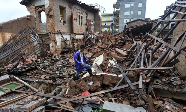 Maisons endomagées par le super-typhon Nepartak dans la ville de Putian dans la province de Fujian. Photo: Zhang Guojun / AP