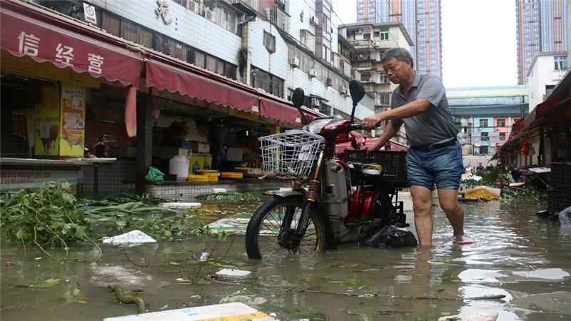 Alimentations électriques avaient été coupées dans certaines parties de Xiamen [AFP]