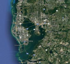 Carte de localisation de la Baie de Tampa
