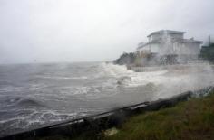 Marée de tempête à Alligator Point, région d'Apalachicola, 01/09/2016