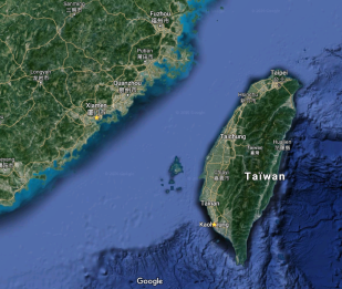 Carte de localisation Chine orientale et Taïwan - Google Maps