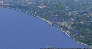 Côte au Nord de la Floride en alerte et vigilance ouragan - Source Google
