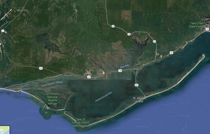 Côte aux environs de Apalachicola - Nord Ouest - Côte du Golfe - Google Maps