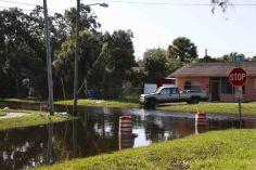 Route encore inondée après le passage d'Hermine, le 06/09/2016 - Source : Tampa Bay Times