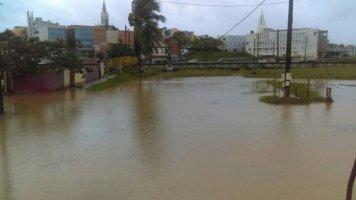 Photo CC Bourg du Lamentin après la tempête (29 septembre 2016) Martinique