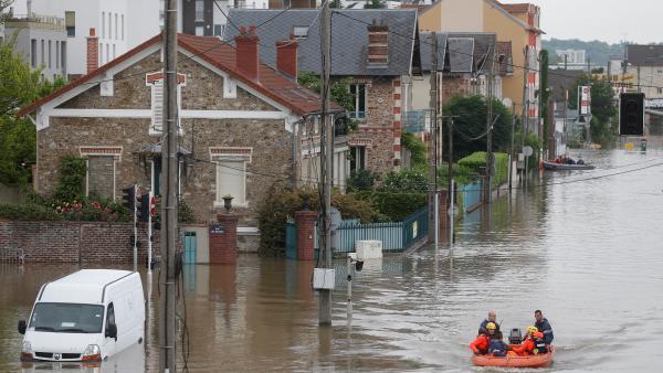 En France, des centaines de communes, des milliers d'entreprises, d'agriculteurs et de particuliers ont été affectés par une semaine de pluies torrentielles et d'inondations. Photo datée de juin 2016. © REUTERS/Christian Hartmann