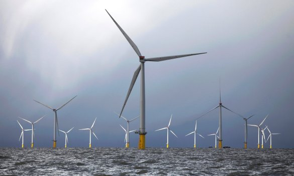 Wind turbines 'could supply most of UK's electricity' - Source The Guardian - Dong Energy's London Array windfarm. It is the UK's largest windfarm operator. Photograph: Bloomberg via Getty Images