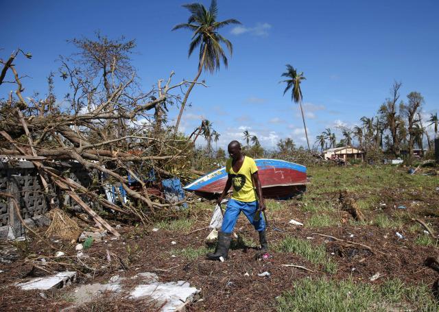 La communauté internationale se mobilise après le passage de l'ouragan Matthew pour venir en aide à Haïti. | EPA/MAXPPP