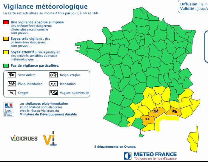 Source Météo-France le 12/10/2016