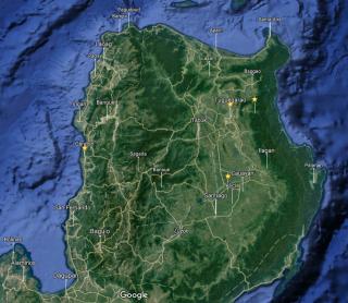 Région touchée par le passage du typhon Haima