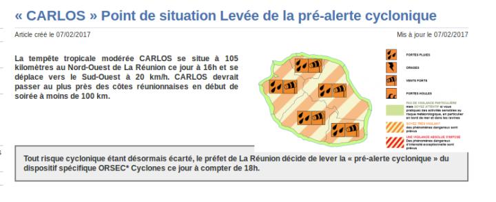 Source : Préfecture de la Réunion